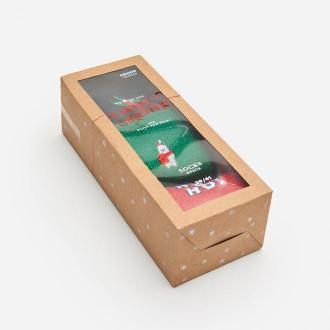Cropp - 3 pack świątecznych skarpetek - Czerwony