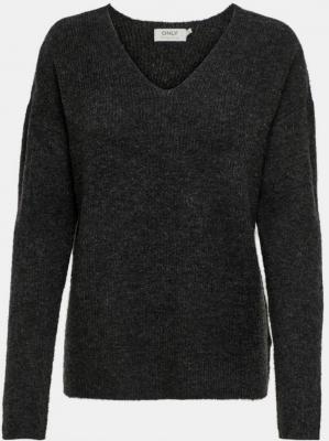 Ciemnoszary sweter ONLY Camilla - S