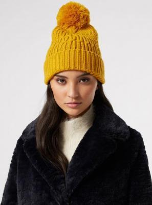 Żółta czapka Dorothy Perkins - ONE SIZE