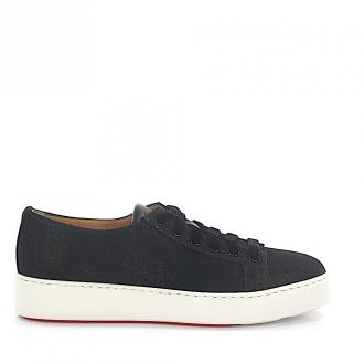 Santoni Sneakersy 60248 materiał czarne brokat