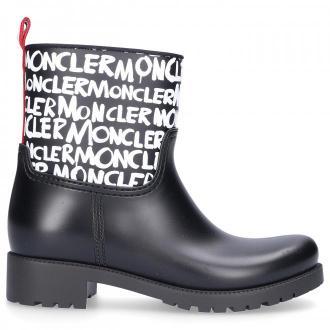 Moncler Kalosze GINETTE Logo Nadruk  czarny