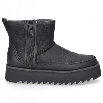UGG Botki czarne REBEL BIKER MINI