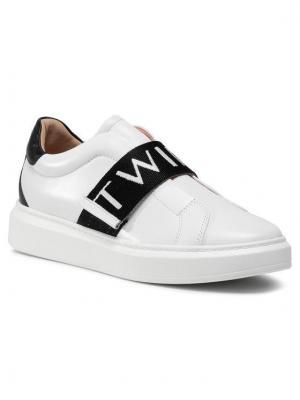 TwinSet Sneakersy Sneaker 202TCP092 Biały