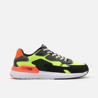 Cropp - Sneakersy z odblaskowymi elementami - Zielony
