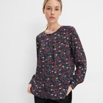 Mohito - Wiskozowa koszula w kwiaty - Czarny