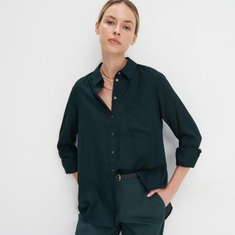 Mohito - Wiskozowa koszula oversize - Khaki