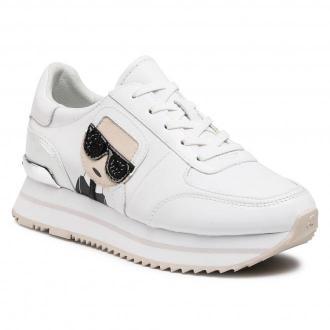 Sneakersy KARL LAGERFELD - KL61930  White Lthr/Suede