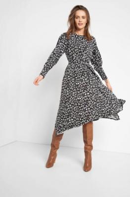 Asymetryczna sukienka z wiskozy