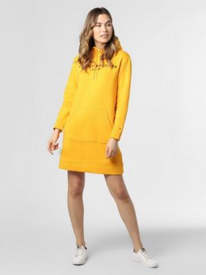 Tommy Hilfiger - Damska sukienka dresowa, żółty