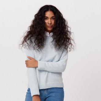 Cropp - Sweter z szenili - Niebieski