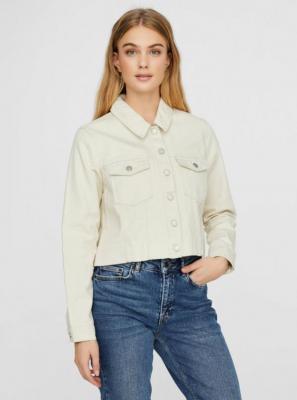Kremowa kurtka jeansowa VERO MODA Mikky - S