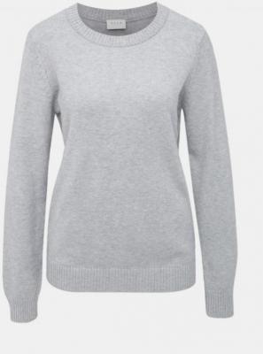 Jasnoszary sweter VILA Ril - XS