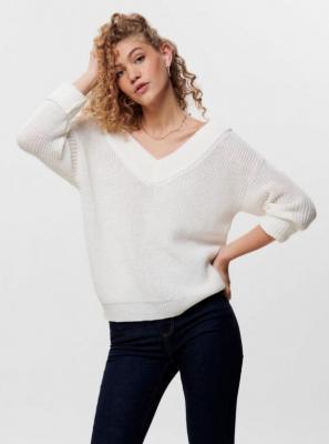 Biały sweter TYLKO Melton - M