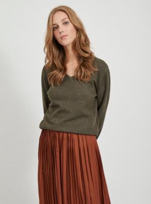Sweter w kolorze khaki VILA Viril - XS