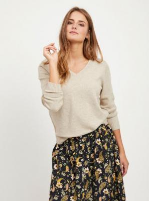 Beżowy sweter VILA Viril - XS