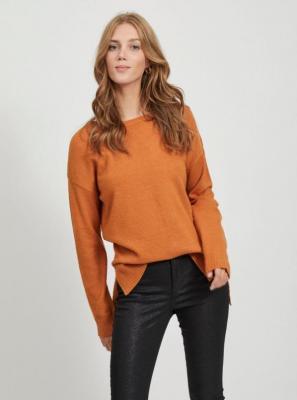 Pomarańczowy sweter VILA Ril - XS