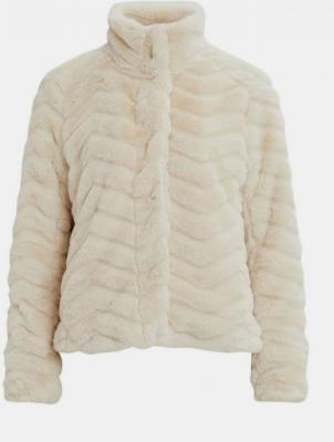 Kremowa kurtka ze sztucznego futra VILA Aliba - XS
