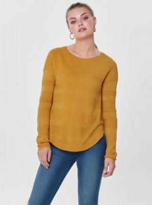 Musztardowy lekki sweter z rozcięciem na boku ONLY Caviar - XS