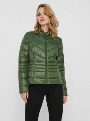 Zielona pikowana kurtka zimowa VERO MODA - XS
