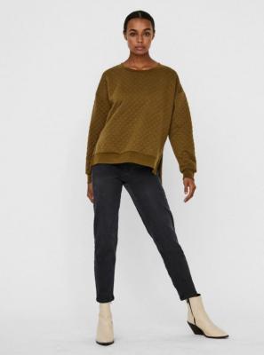 Bluza w kolorze khaki z rozcięciami VERO MODA Cayle - XS