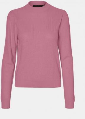 Różowy, lekki sweter ze stójką VERO MODA Galex - XS