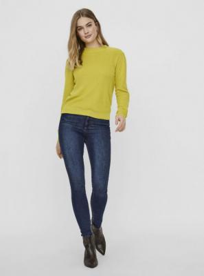 Zielono-żółty lekki sweter ze stójką VERO MODA Galex - S