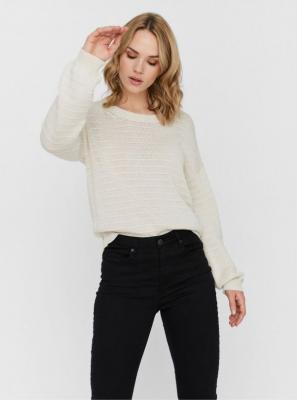 Kremowy sweter VERO MODA Citro - M