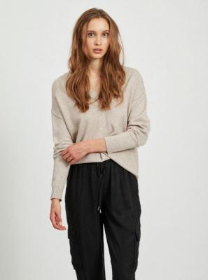 Beżowy luźny sweter VILA Ril - M