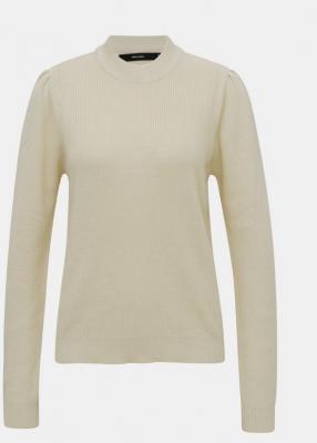 Kremowy, lekki sweter ze stójką VERO MODA Galex - XS