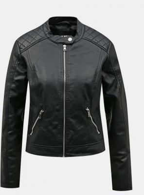 Czarna kurtka ze sztucznej skóry TALLY WEiJL - XS