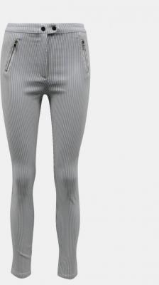 Jasnoszare pasiaste spodnie skinny fit TALLY WEiJL - XS