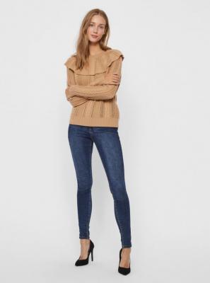 Jasnobrązowy sweter VERO MODA Cayden - XS