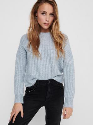 Niebieski sweter TYLKO New Chunky - XS