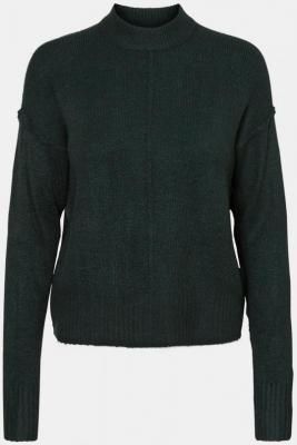 Ciemnozielony sweter ze stójką VERO MODA - XS