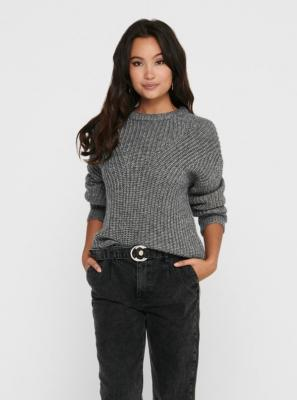 Szary sweter basic TYLKO Fiola - XS