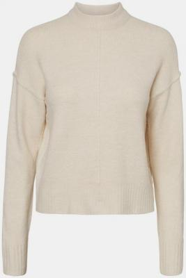 Kremowy sweter ze stójką VERO MODA - XS