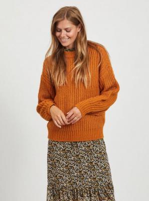 Pomarańczowy sweter VILA - S