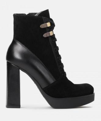Czarne botki damskie