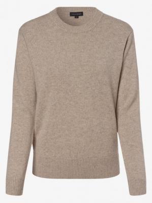 Franco Callegari - Damski sweter z wełny merino, beżowy