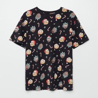 Cropp - Świąteczna koszulka Rick and Morty - Szary