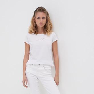 Sinsay - Koszulka z nadrukiem - Biały