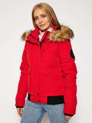 Superdry Kurtka zimowa Everest Bomber W5010303A Czerwony Regular Fit