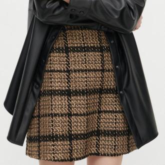 Reserved - Trapezowa spódnica w kratę - Wielobarwny