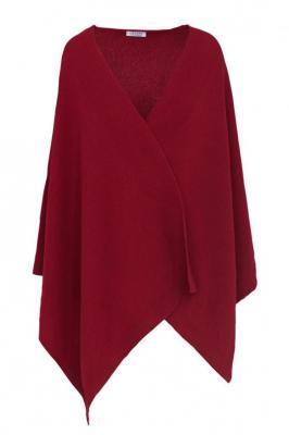 Czerwone poncho damskie 84450