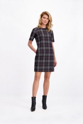 Elegancka sukienka w kratkę Aniz Stemma 84212