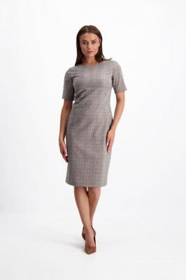 Szara sukienka w kratę Kari Paola 84236