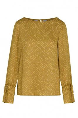 Złota bluzka damska w groszki Dori 84635
