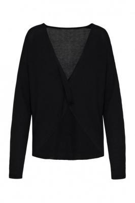 Czarny sweter damski Kama 84701