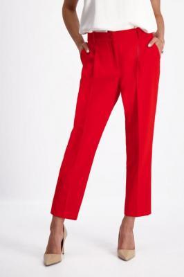 Czerwone spodnie damskie 7/8 84736