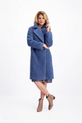 Płaszcz damski niebieski Luna Niso 84806